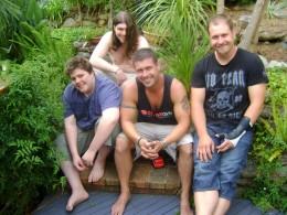 My boys, from left- Eden, James, Ben and Adam