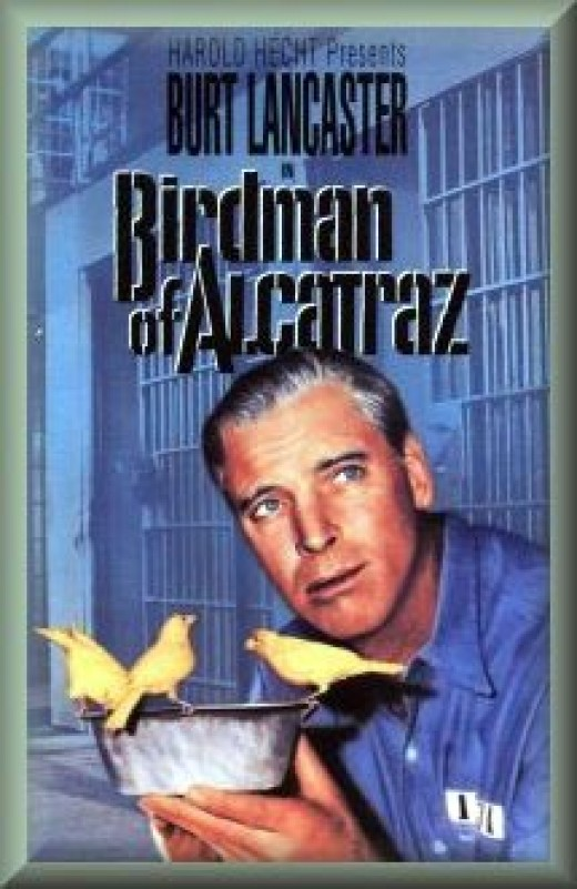 "DVD cover for the movie ""Birdman of Alcatraz"""