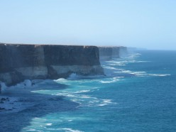 Absolute edge of Australia (looking east toward South Australia)