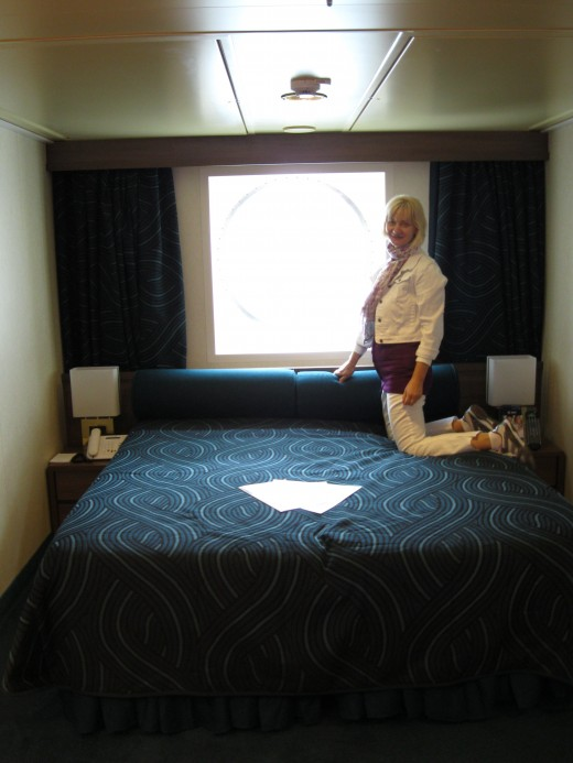 Bed on our cabin on the Splendida