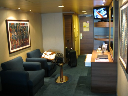 Our cabin on the MSC Cruise Lines ship Splendida
