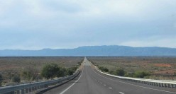 On the road, the Flinders Range