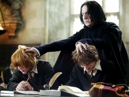 Professor Snape, Ron and Harry