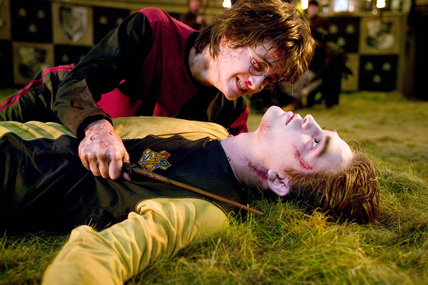 Harry and Cedric Diggory from the Goblet of Fire