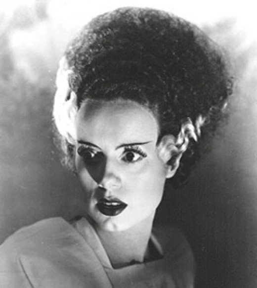 I love the look of a classic Bride of Frankenstein for Halloween