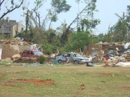 Destruction everywhere, even 38 days after the tornado.