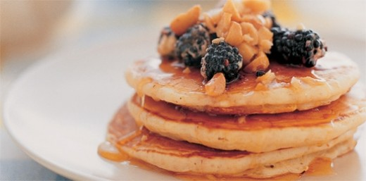 Pancakes with Blackberry & Honey
