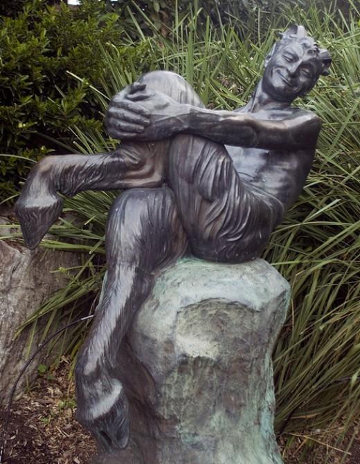 Statue of a Satyr, Royal Botanic Gardens, Sydney By jameshead