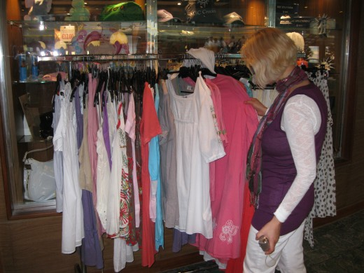 Shopping on board the Splendida