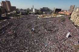Muslims recently gathered to listen to the Muslim Brotherhood in Cairo