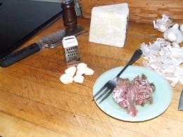 2-3 cloves of garlic or to taste.