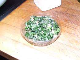 Chopped Basil, Parsley, Garlic & Walnuts with Olive oil.