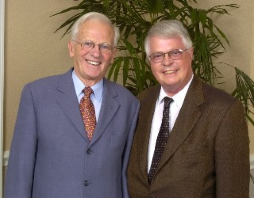 Dan Wooding with Brother Andrew - famous for smuggling Bibles into China.  Dan authored some books about Brother Andrew.