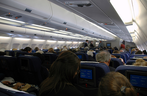 Interior of a Swiss Interational Air A332