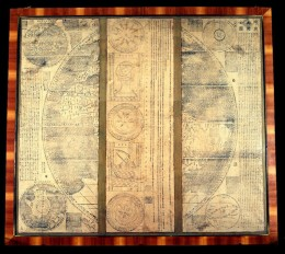 Impossible_Black_Tulip- World_map, panels 1 and 6 (left & right) of the 1602 Ricci map at Museo della Specola, Bologna,