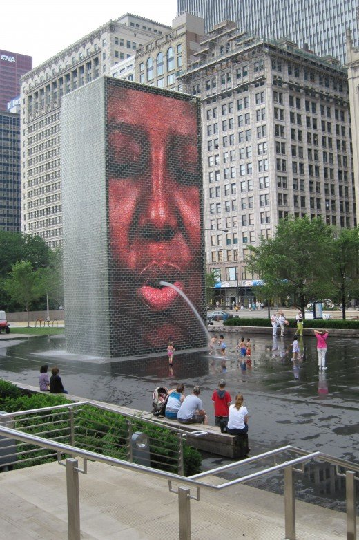 The Crown Fountain  by Jaume Piensa