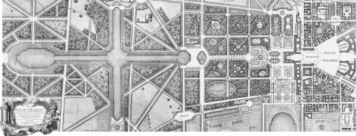 The original plan for the formal gardens