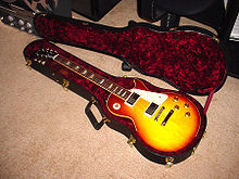 A Gibson Les Paul electric guitar.