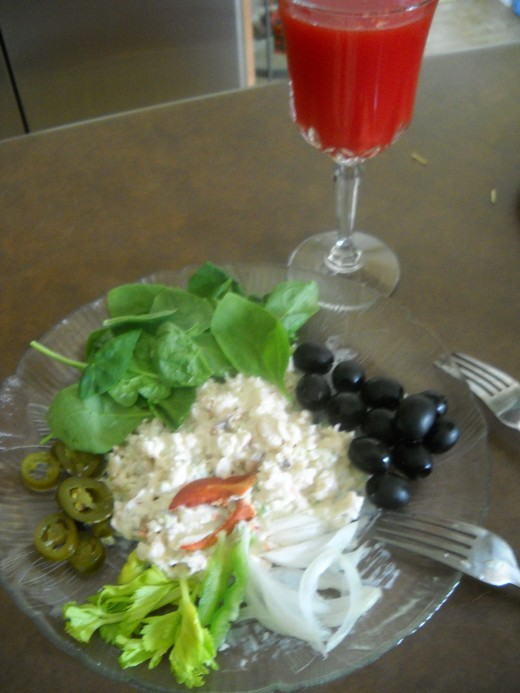 Salad with live veges