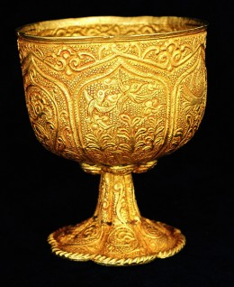Gold Chalice from the Tang Dynasty Thought to have been made around 750 A.D.