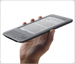 The kindle is slim and lightweight and is great for taking on holiday or travelling with.