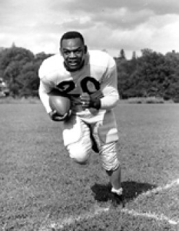 George Taliaferro was the first black quarterback selected in the draft.  (1949)