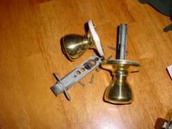 How to Install a simple exterior door lock