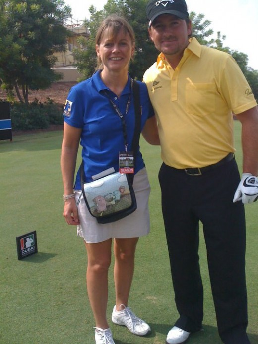 Me and Graeme McDowell at the Dubai World Championships