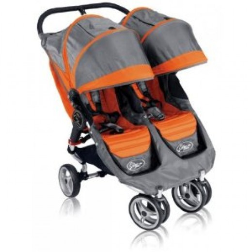 Baby Jogger City Mini Double Stroller (Orange/Gray)