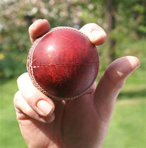The basic grip of a leg break bowler