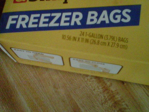 Zip lock freezer bags(Gallon Size)
