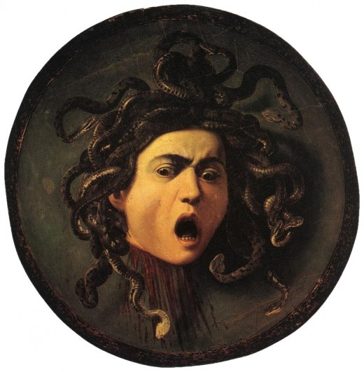 medusa- painting by Carvaggio
