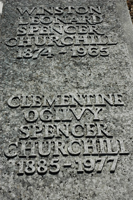 Grave of Sir Winston and Lady Clementine Churchill, Bladon churchyard