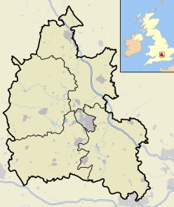 Map location of Oxfordshire in the United Kingdom