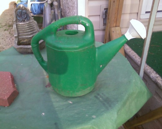 This tool is made out of plastic. You can also get watering cans made of metal.