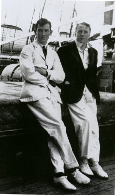 George Mallory and Andrew Irvine in 1924 on the SS California on their way to Mt. Everest for their fateful climb