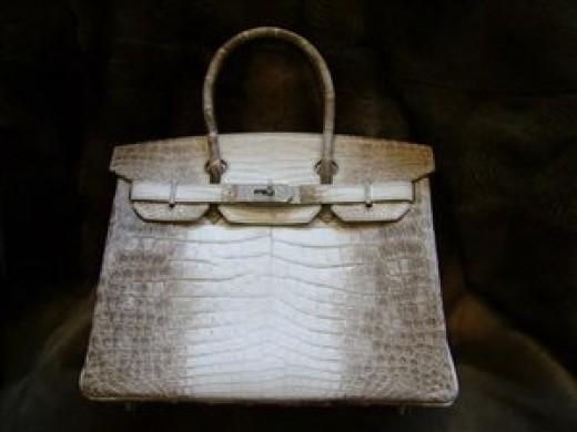 Hermes Birkin himalayan crocodile handbag