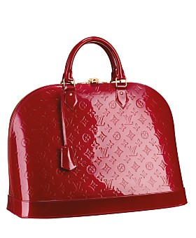 LV alma in Vernis red