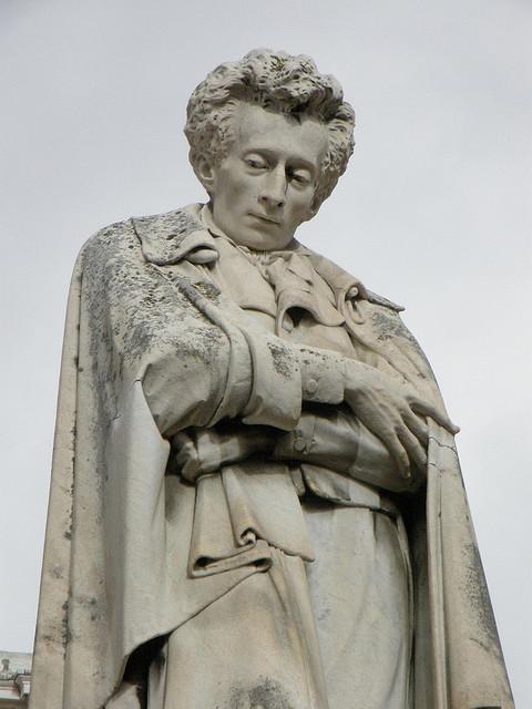 Statue of Giacomo Leopardi