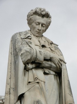 Statue of Giacomo Leopardi