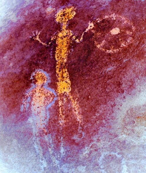 Chumash Sun-Child-Adult painting.