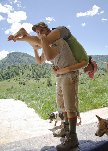 Wife Carrying Practice by thunderpete, on Flickr
