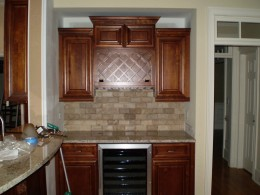 Custom cabinet for an opening