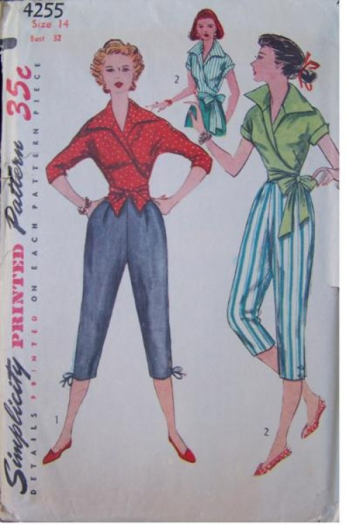 Simplicity printed pattern #4255, dated 1953