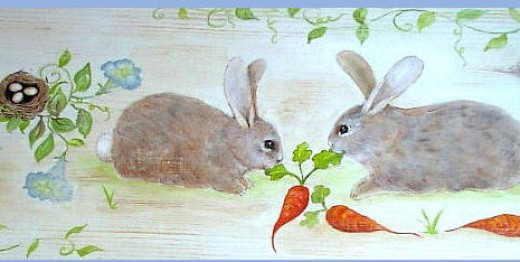 two more bunnies on another bench