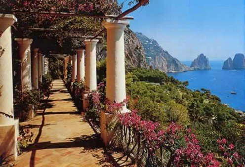 View from a terrace on the gorgeous Isle of Capri