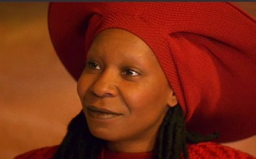 Whoopi Goldberg as lovable bartender Guinan on Star Trek: The Next Generation