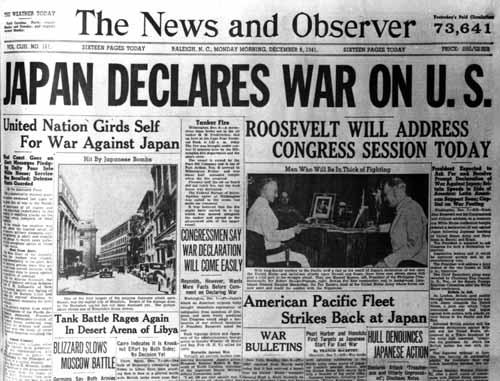 Japan Declares War