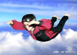 My son flying - Photoshopped background.