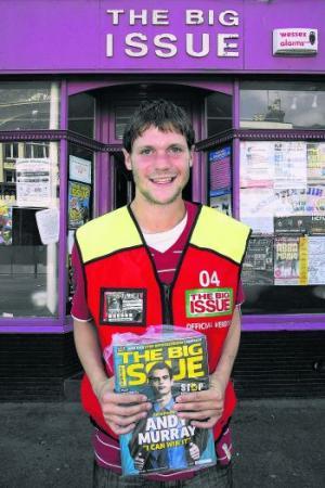 A Big Issue vendor